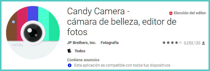 Descargar Candy Camera para Android