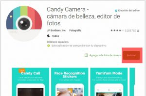 Instalar Candy Camera APK Android
